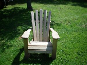 Newly Constructed Adirondack Chair
