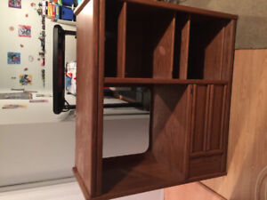 Solid oak entertainment stand $80 obo