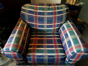 Great for the cottage or basement. Country casual  couch & chair