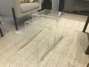 Acrylic Nesting Tables -   *3 In Set*