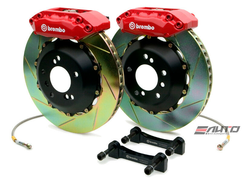 Brembo Rear Gt Brake Bbk Kit 4 Piston Red 328x28 Slot Nsx 91-05 Na1 Na2