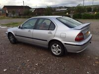 HONDA CIVIC 1.4 PETROL £280 ONO OPEN TO OFFERS