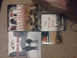 World War 1/2 Books,Large ones with CD