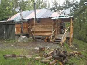 Trap line & Fully equiped  log cabin.