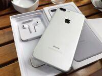 IPhone 7 Plus 128gb silver 9 month Apple waranty
