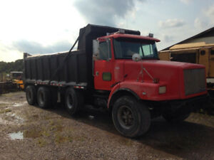 Only $15k Volvo Tri Axle Dump truck with steerable lift axle