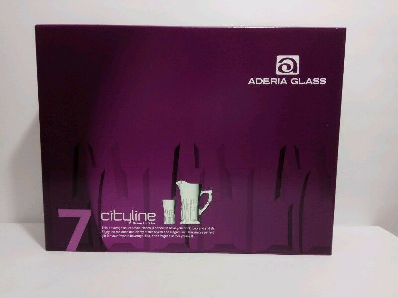 BNIB - CITYLINE Aderia Glass 7-piece Water Set - New CITYLINE Aderia Glass 7-piece Water Set