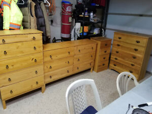 Solid Wood Dressers - 2 sets of 2