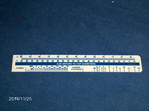 "PLASTIC RULER WITH HANDLE-COMEAU TECHNIQUE-6""-ADVERTISING"