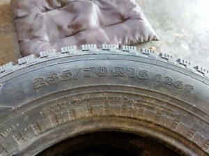 4 Used Nokian 235/70R16 106T Studded (One Set of Four Tires)