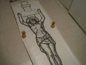 12 ft. picture Christ Crucifixion