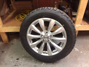 brand new firestone winterforce studded tires and rims