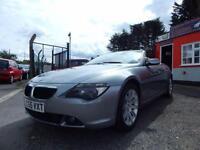 2005 BMW 6 Series 630i 2dr SMG convertible, 2 keys, full service history, 2 ...