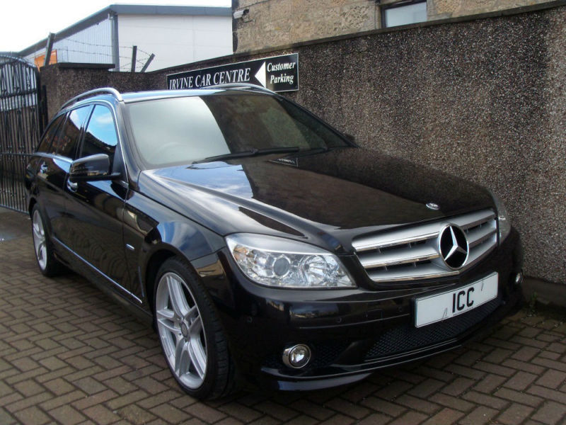 "10 60 MERCEDES C250CDi AMG SPORT DIESEL ESTATE 5DR AMG BODYKIT 18""ALLOYS LEATHER"