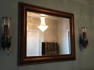 Mirror - Rich Brown Wood Frame