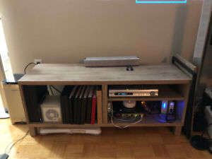 Ikea BESTA TV Bench - Walnut Gray