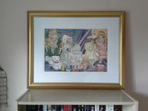 GREAT CHRISTMAS GIFT-CHARMING FRAMED ORIGINAL PAINTING