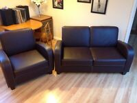 Two seater sofa and armchair set