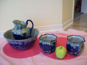 2 Smaller IRONSTONE PLANTERS+ JUG + BOWL **SEE EACH PRICE **