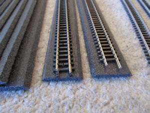 N scale trains/track-bed......