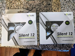 Two (2) GELID Solutions Silent 12 120mm PC case fans