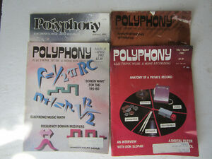 4 issues Polyphony magazine
