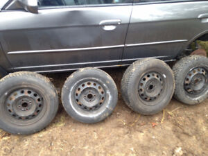 4x100 rims and Tires 14""