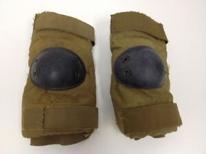 USMC-Coyote-Tan-Elbow-Pads-Size-Medium-Paintball-Airsoft-Skateboard