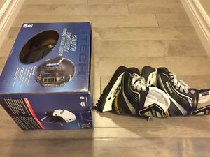 Ice skating's shoes and helment for kid