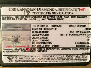 North Canadian Diamond Ring For Sale 1,800$ reg.3600$ Fort Sask.