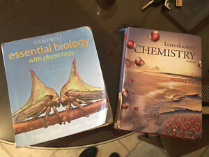 Biology / chemistry books for sale