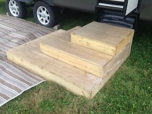 3 steps deck for RV
