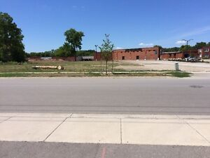rezoned and env. remediated plaza or building site in West Brant