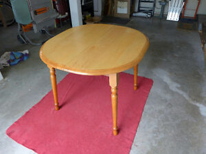 small wood kitchen table