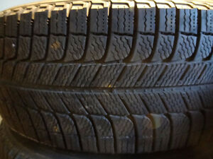 4 MICHELIN XI3 X ICE 235 60 16 WINTER TIRES PNEUS HIVER 90% LEFT