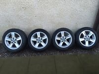 Bmw 1 Series e81 e87 e88 16 inch alloy wheels 205 55 16 tyres (maybe use wheels for winter tyres?)
