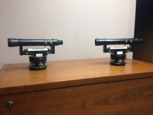 Old Dumpy Levels x 2 for sale