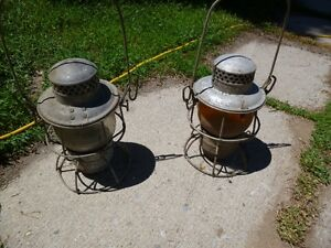 Vintage CNR Train Lanterns (2 available) Kitchener / Waterloo Kitchener Area image 1