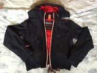 Ladies Superdry Windbomber jacket Navy/red