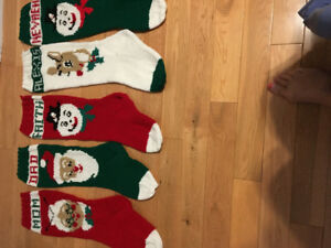 Home knit personalized Christmas stockings
