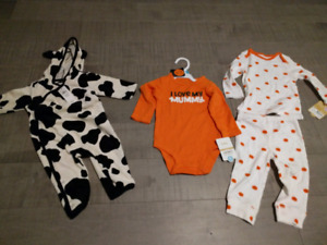 Baby halloween costumes- brand new with tags