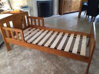 Toddler bed mid wood John Lewis nursery