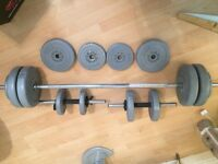 YORK Weights Set - Bar Bell Dumbells Various