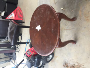 Antique solid side table