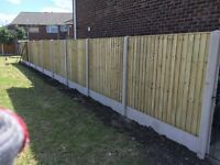 🔨🌟High Quality Heavy Duty Pressure Treated Vertical Board Fence Panels