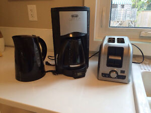 Coffee maker/toaster/kettle