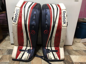 Reebok P4 Goalie Pads (34+1) and Gloves