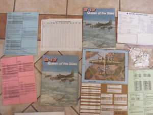 Avalon Hill B 17 Queen of the Sky s Soltare Board game,, As is