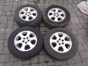 Mags d'origine Subaru + Pneus d'été Michelin