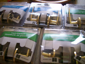 Brass Door Levers (5) and Deadbolts (2)